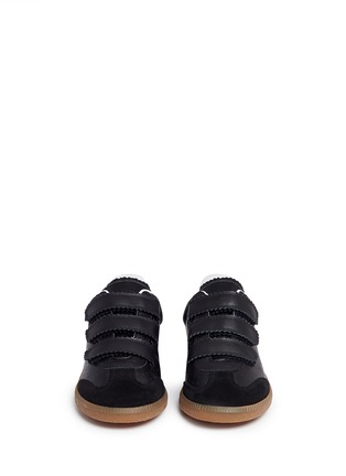 Front View - Click To Enlarge - ISABEL MARANT ÉTOILE - 'Beth' suede panel leather sneakers