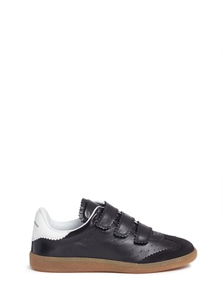 Main View - Click To Enlarge - ISABEL MARANT ÉTOILE - 'Beth' suede panel leather sneakers