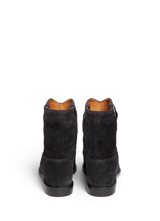 Back View - Click To Enlarge - Isabel Marant Étoile - 'Crisi' slouch cuff suede ankle boots