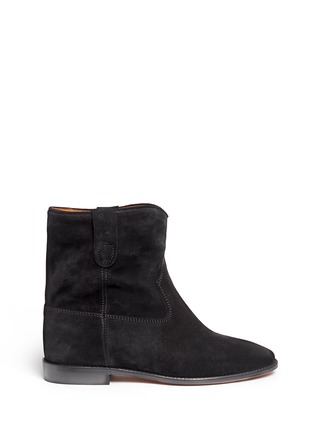 Main View - Click To Enlarge - ISABEL MARANT ÉTOILE - 'Crisi' slouch cuff suede ankle boots