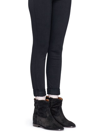 Figure View - Click To Enlarge - Isabel Marant Étoile - 'Crisi' slouch cuff suede ankle boots