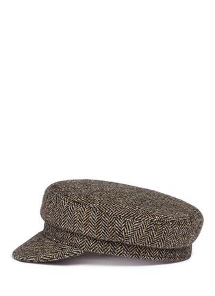 Figure View - Click To Enlarge - Isabel Marant Étoile - 'Evie' herringbone virgin wool boyish cap