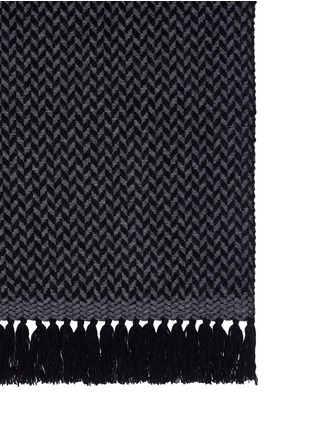 Detail View - Click To Enlarge - Isabel Marant Étoile - 'Alena' fringed wool-cashmere herringbone scarf