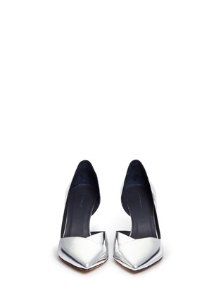 Front View - Click To Enlarge - Isabel Marant Étoile - 'Palma' mirror leather d'Orsay pumps