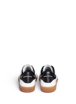Back View - Click To Enlarge - Isabel Marant Étoile - 'Bryce' brogue trim leather sneakers