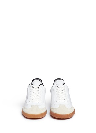 Front View - Click To Enlarge - Isabel Marant Étoile - 'Bryce' brogue trim leather sneakers