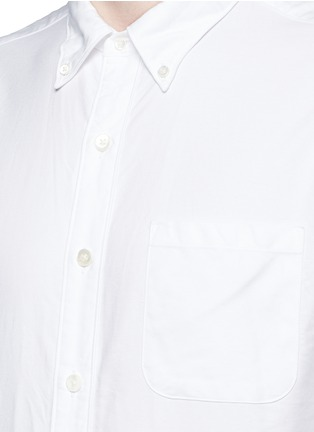 Detail View - Click To Enlarge - nanamica - Button down collar cotton Oxford wind shirt