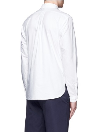 Back View - Click To Enlarge - nanamica - Button down collar cotton Oxford wind shirt