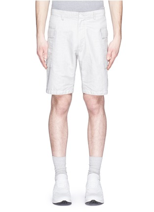 Main View - Click To Enlarge - nanamica - Stripe dobby cargo shorts