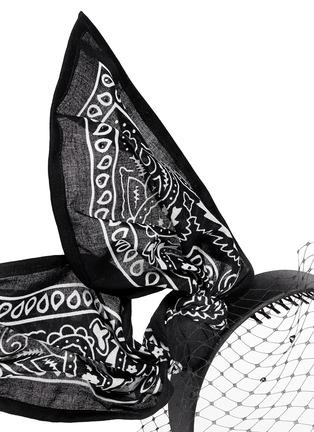 Detail View - Click To Enlarge - Piers Atkinson - 'Bandita' Swarovski crystal veil bandana bow headband