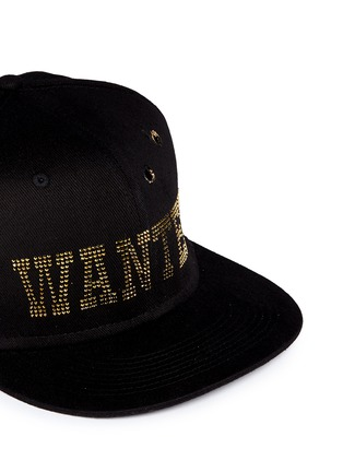 Detail View - Click To Enlarge - PIERS ATKINSON - 'Wanted' strass bullet hole baseball cap