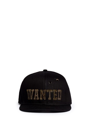 Main View - Click To Enlarge - Piers Atkinson - 'Wanted' strass bullet hole baseball cap