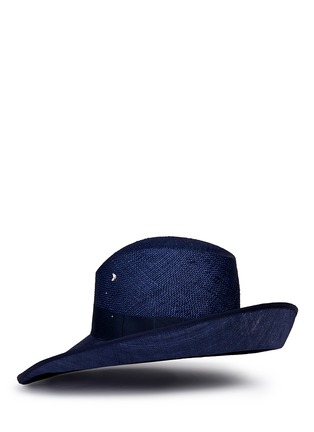 Figure View - Click To Enlarge - Piers Atkinson - Swarovski crystal straw combo fedora hat