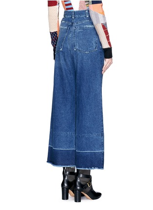 Back View - Click To Enlarge - Rachel Comey - 'Legion' raw edge cuff wide leg jeans
