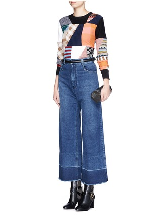 Figure View - Click To Enlarge - Rachel Comey - 'Legion' raw edge cuff wide leg jeans