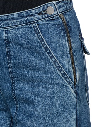 Detail View - Click To Enlarge - Rachel Comey - 'Pursue' flared cropped jeans