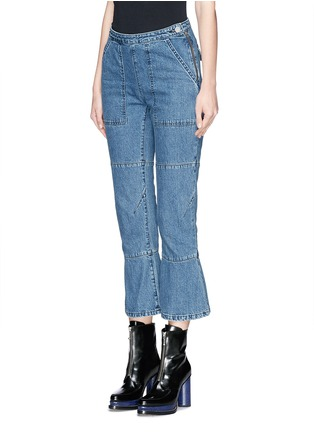 Front View - Click To Enlarge - Rachel Comey - 'Pursue' flared cropped jeans