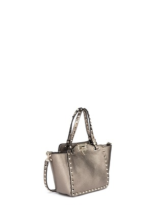 Figure View - Click To Enlarge - Valentino - 'Rockstud' mini metallic leather tote