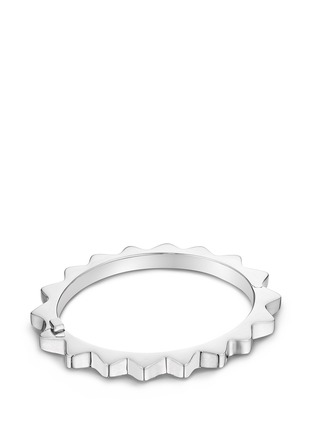 Main View - Click To Enlarge - Lynn Ban - 'Thin Gear' sterling silver bangle