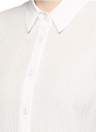 Detail View - Click To Enlarge - rag & bone/JEAN - Tie front dobby stripe cotton shirt