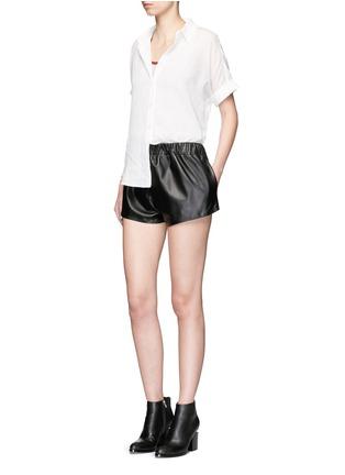 Figure View - Click To Enlarge - rag & bone/JEAN - Tie front dobby stripe cotton shirt