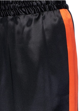 Detail View - Click To Enlarge - GIVENCHY - Contrast stripe silk satin pants