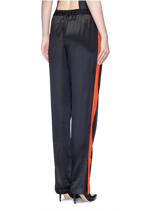 Back View - Click To Enlarge - GIVENCHY - Contrast stripe silk satin pants