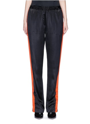 Main View - Click To Enlarge - GIVENCHY - Contrast stripe silk satin pants