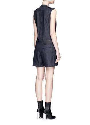 Back View - Click To Enlarge - rag & bone - 'Gigi' tailored cotton denim romper