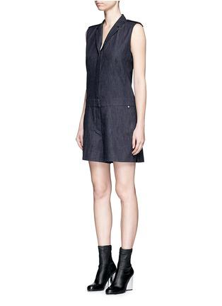 Front View - Click To Enlarge - rag & bone - 'Gigi' tailored cotton denim romper