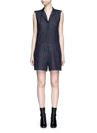 Main View - Click To Enlarge - rag & bone - 'Gigi' tailored cotton denim romper