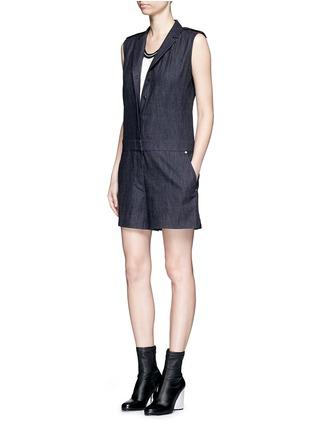 Figure View - Click To Enlarge - rag & bone - 'Gigi' tailored cotton denim romper