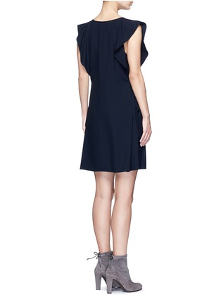 Back View - Click To Enlarge - Chloé - Drawstring V-neck cady dress