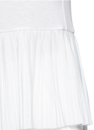 Detail View - Click To Enlarge - Theory - 'Elvnee' plissé pleat slub jersey top