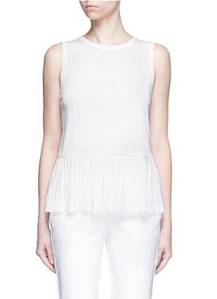 Main View - Click To Enlarge - Theory - 'Elvnee' plissé pleat slub jersey top