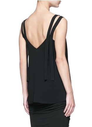 Back View - Click To Enlarge - Helmut Lang - Double strap high twist crepe camisole