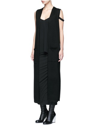 Figure View - Click To Enlarge - Helmut Lang - Double strap high twist crepe camisole