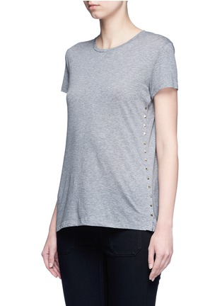 Front View - Click To Enlarge - Valentino - 'Rockstud Untitled 09' mélange jersey T-shirt