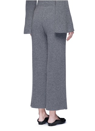Back View - Click To Enlarge - The Row - 'Latone' cashmere rib knit flared pants