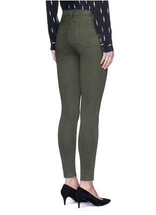 Back View - Click To Enlarge - J Brand - 'Miranda' mid rise zip sateen skinny pants