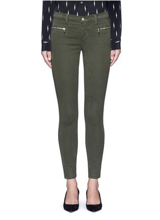 Main View - Click To Enlarge - J Brand - 'Miranda' mid rise zip sateen skinny pants