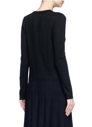 Back View - Click To Enlarge - alice + olivia - Sequin ruffle trim wool cardigan