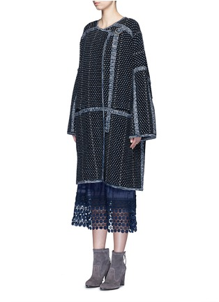 Front View - Click To Enlarge - Chloé - Tweed effect wool-cashmere coat