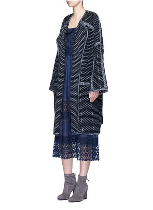 Figure View - Click To Enlarge - Chloé - Tweed effect wool-cashmere coat
