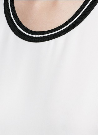 Detail View - Click To Enlarge - rag & bone - 'Romy' sport stripe neck silk tank top