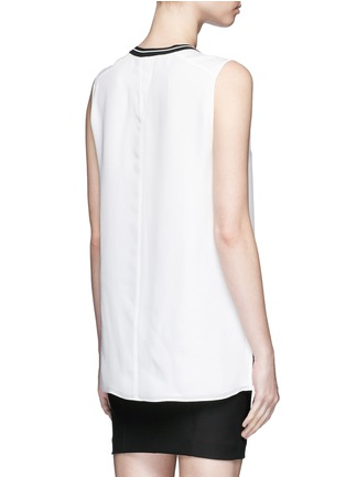 Back View - Click To Enlarge - rag & bone - 'Romy' sport stripe neck silk tank top