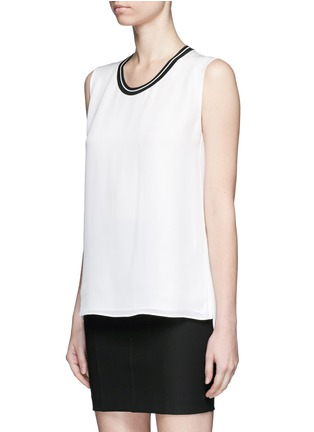 Front View - Click To Enlarge - rag & bone - 'Romy' sport stripe neck silk tank top