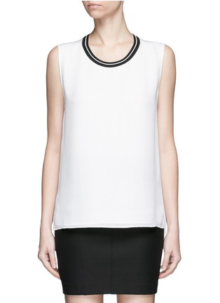 Main View - Click To Enlarge - rag & bone - 'Romy' sport stripe neck silk tank top