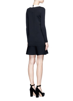 Back View - Click To Enlarge - VALENTINO - Removable Peter Pan collar sweater dress