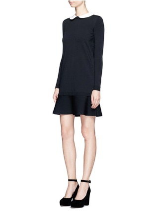 Figure View - Click To Enlarge - VALENTINO - Removable Peter Pan collar sweater dress